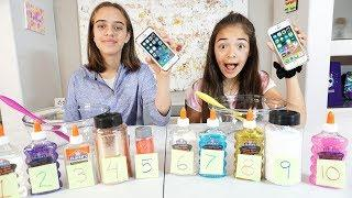 Siri Picks Our Slime Ingredients Challenge! Sophia and Sarah