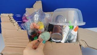 Çöpe Atılacak 1 Koli Malzeme ile ÇÖPLÜK Slime! Mixing 100 Ingredients to Make Slime! Bidünya Oyuncak