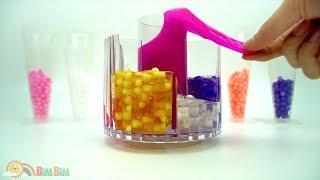 Learn Colors Combine Jelly Slime! EASIEST Crunchy Slime SPRINKLES!!