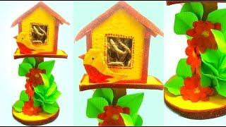 Bird House  Handmade home decor | simple  diy bird house ideas | diy garden decoration | Tuber Tip