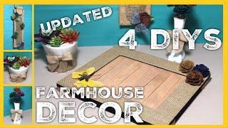 Farmhouse DIYs - Rustic Tray, Succulent Planter, Flowers & Vase, Hanging Decor   Burlapfabric.com