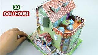 How to Make DIY 3D Dollhouse #67 - Building Doll House From Paper For Kids