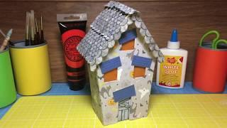 How To Make a Spooky Halloween Haunted House Decoration from Scrap Materials