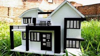 How to Make Beautiful House from Thermocol | Easy House Craft | थर्माकोल से घर बनाने का आसान तरीका