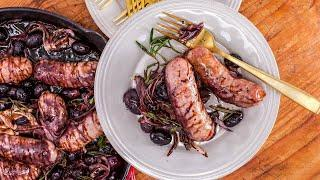 How to Make Roasted Sausages with Grapes by Rachael