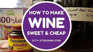 Make Sweet Red Wine - With Bread Yeast?