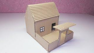 Cardboard House | How to Make Cardboard House For Project | Cardboard Crafts