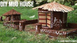 DIY Mud House Using Cardboard and Soil| School Project | Types of Houses – Mitti ka Ghar