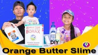 Making Orange Butter Slime | Fan Request DIY Orange Butter Slime | Khmer Thai Make Slime with Borax
