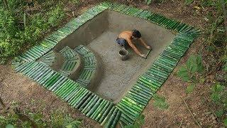Build Underground Swimming Pool And Bamboo Pool Around Underground House