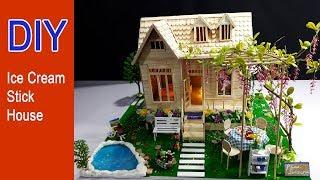 DIY: How to make a house using ice sticks /Popsicle sticks