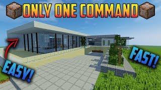 ????Minecraft 1.13. ULTRA MODERN HOUSE   ONLY 1 COMMAND  NO MODS!!!