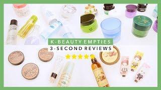 K-Beauty Empties | 3-Second Reviews of 34 Products