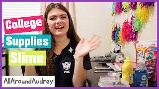 College School Supplies Slime Making / AllaroundAudrey