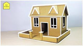 How To Make A Beautiful House From Cardboard (BEAUTIFUL & EASY WAY)