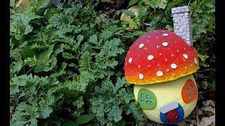 How To Make DIY Paper Mache Fairy Mushroom House From Recycled Materials (school project craft idea)