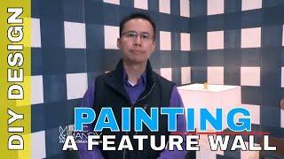 How to Create a Wallpaper Look Feature Wall with Paint