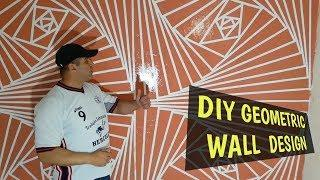 DIY Geometric Wall Painting |3d wall decoration effect design ideas | interior design