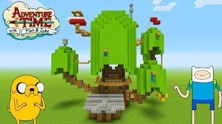 "Minecraft: How To Make Finn and Jakes Tree House ""Adventure Time Treehouse"""