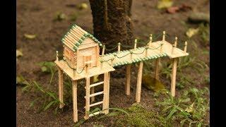 Matchstick Art and Craft Ideas | How to Make Miniature Match Stick House | Shuddh Ideas