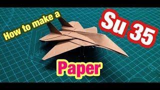 [MonMen House] Make a Plane - Su 35 - Paper military
