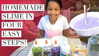 How To Make Homemade Slime With Four Ingredients