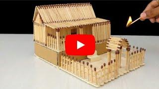 How to Make Match House Fire at Home - Match Stick House  Million Gears25,856,342 views