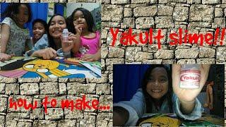 How to make Yakult slime (Im here with others my friends)