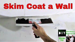 How to skim coat a wall after drywall repairs- Diy drywall tips