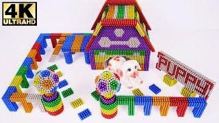 ASMR - DIY How To Make Puppy Dog House with MAGNETIC BALLS (Satisfaction) | Magnet HQ 4K