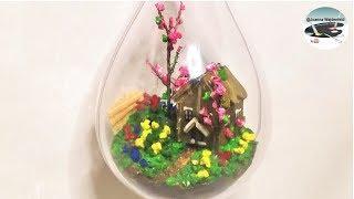 Jak zrobić wiszący mini domek w ogródku HANGING MINI HOUSE IN GARDEN Pomysły plastyczne dla każdego
