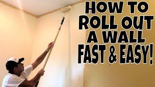 Interior Wall Painting- How to Roll Out a Wall Fast and Easy Like a Pro!