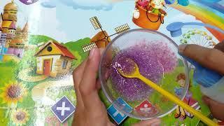 របៀបធ្វើស្លែមជាមួយភ្លេកៗពណ៌ស្វាយ/How to make slime color purple
