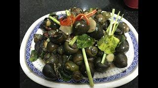 Asian Food 2018 - How To Make Snails Fried W/ Red Wine Coconut Water | Asian Popular Food 2018
