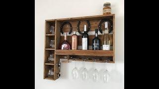Making a wine / whisky rack for on the wall