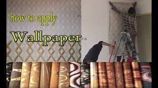 3d wallpaper//3d wallpaper for wall //bedroom wallpaper sticker//paintmaster junaid full process