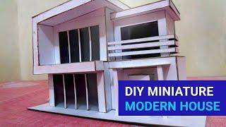 How to make Miniature Modern House using Cardboard | Beautiful and Simple DIY Projects