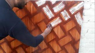 How To Make 3d Tiles paint designs on wall    Royal play combing 2019
