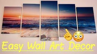 ????Canvas Wall Art for Office Wall, Living Room, Bathroom | 5 Piece Painting Modern Landscape