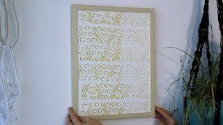 Give It a Twist: Turn a Paint Roller Into a Pattern Roller - EN
