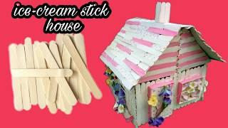 Popsicle Stick House | How To Make Modern Popsicle Sticks House | Easy & Simple