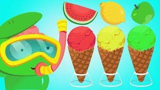 Learn how to Make Ice Cream for Children - Candy Desert House Fun Kids Games