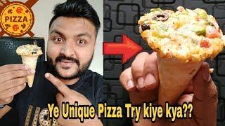 Ye Unique Cone Pizza Try Kiya Kya? ???????? || House Of cone Pizza || veg extravaganza cone Pizza???