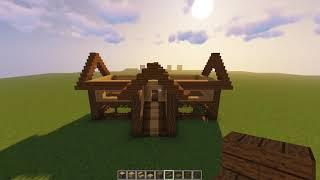 How To Make Wooden Survival House in Minecraft - Minecraft Survival House Tutorial