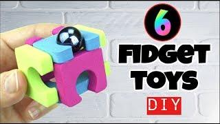 NEW! 6 EASY DIY FIDGET TOYS - HOW TO MAKE DIY TOYS FOR KIDS AT HOME -STRESS RELIEVERS