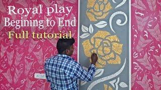 Wall Painting Ideas Easy Techniques | Begining to End Full Tutorial