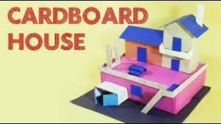 how to make Cardboard house || Dog House || cardbord house by ENTERTAINMENT