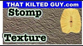 EASY Stomp Ceiling Texture. A drywall texture you can do on walls or ceilings with simple tools