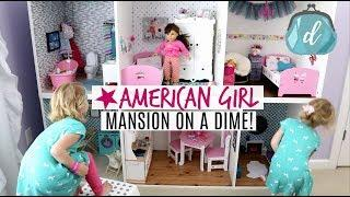 HUGE DOLLAR TREE & IKEA BUILD ???? American Girl Doll House DIY & Tour!