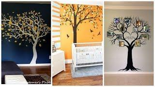 Modern Wall Decals With Stickers / Tree Paintings On Walls